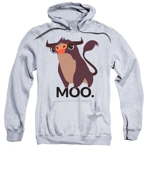 Bull Illustration - Moo Sweatshirt