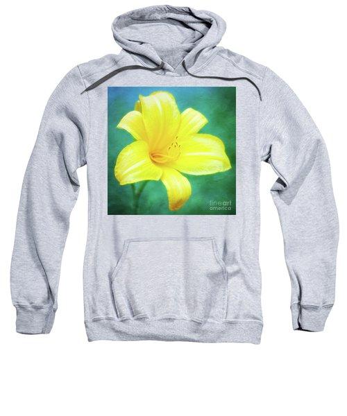 Buttered Popcorn Daylily In Her Glory Sweatshirt