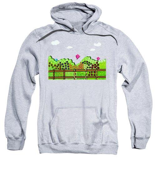 Butterflies And Flowers Sweatshirt