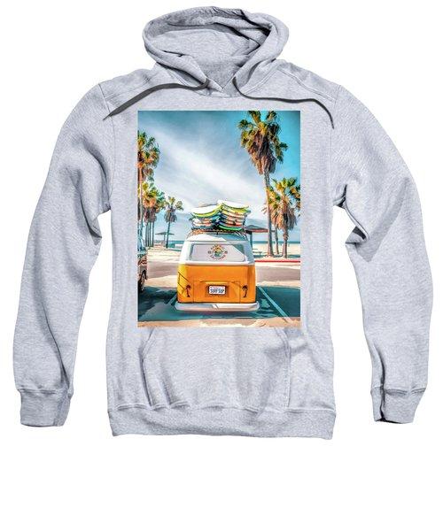 California Surfer Vw Camper Van Sweatshirt