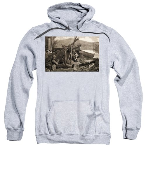 Camping Out In The Adriondack Mountains Sweatshirt