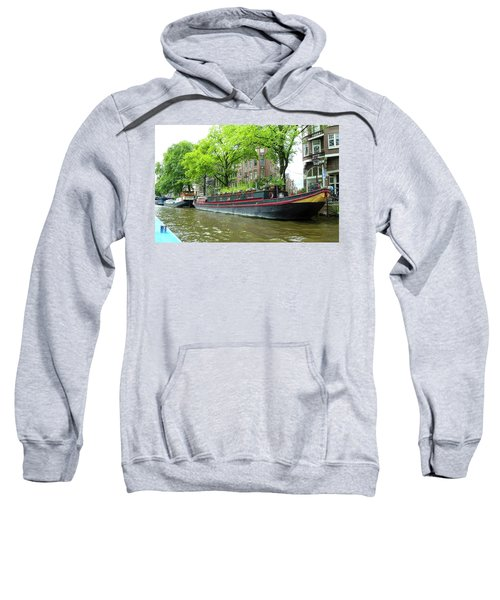 Canal Boats In Amsterdam - 2 Sweatshirt