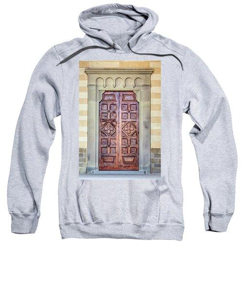 Carved Door Of Cortona Sweatshirt