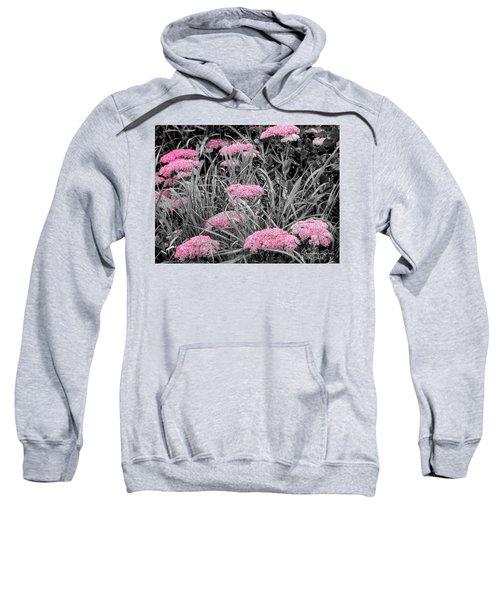Carved Pink Butterfly Bush Sweatshirt