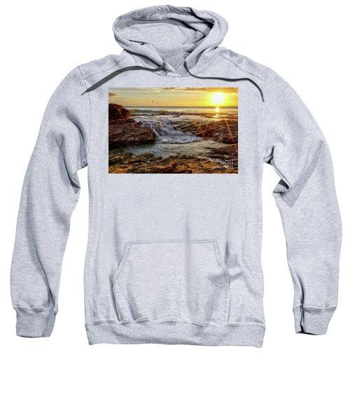Cascading Sunset At Crystal Cove Sweatshirt