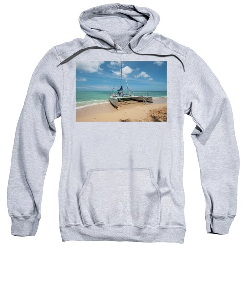 Catamaran On Waikiki Sweatshirt