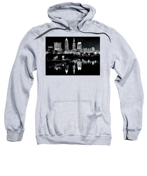 Charcoal Night View Of Cleveland Sweatshirt