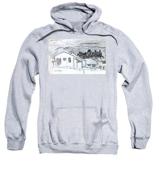 Charcoal Pencil Houses.jpg Sweatshirt