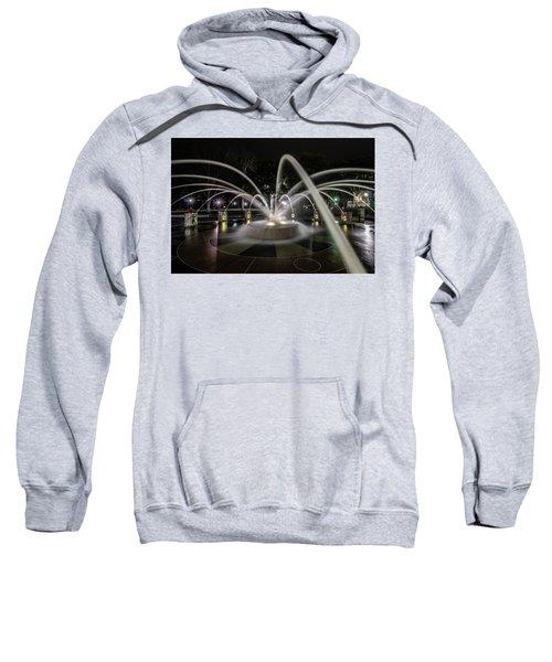 Charleston's Splash Fountain At Night Sweatshirt