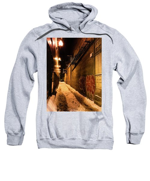 Chicago Alleyway At Night Sweatshirt