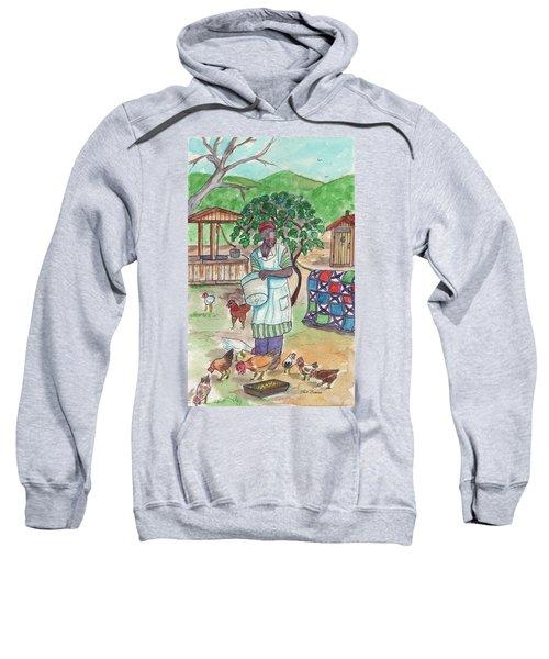Chicken Feeding Time Sweatshirt