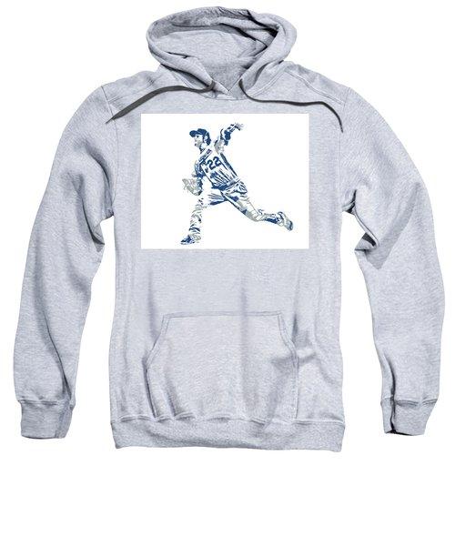 Clayton Kershaw Los Angeles Dodgers Pixel Art 30 Sweatshirt