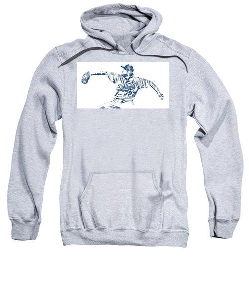 Clayton Kershaw Los Angeles Dodgers Pixel Art 50 Sweatshirt