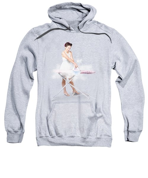 Cleaning Lady Steam Pressing Ironing Board Cover Sweatshirt
