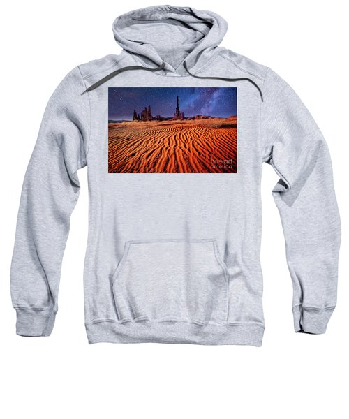 Sweatshirt featuring the photograph Clear Night by Scott Kemper