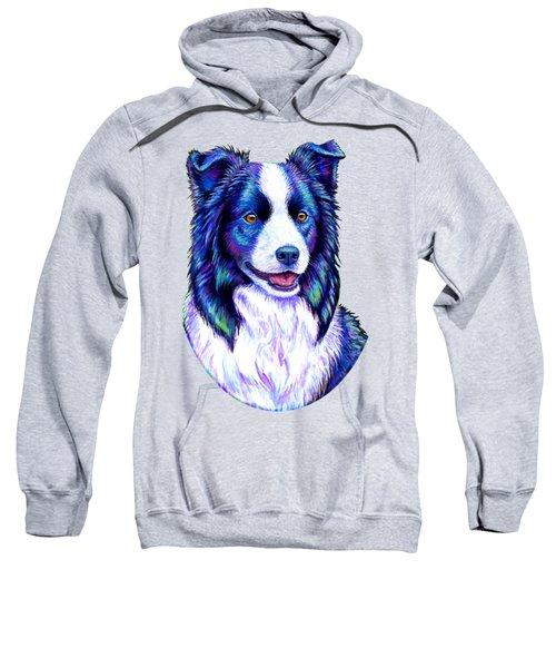 Colorful Border Collie Dog Sweatshirt