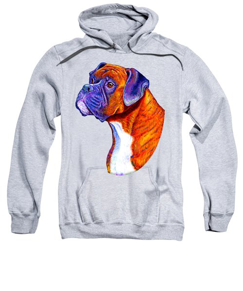 Colorful Brindle Boxer Dog Sweatshirt