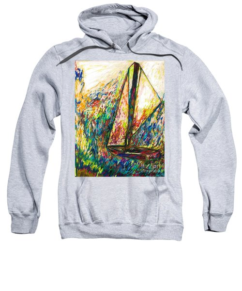 Colorful Day On The Water Sweatshirt