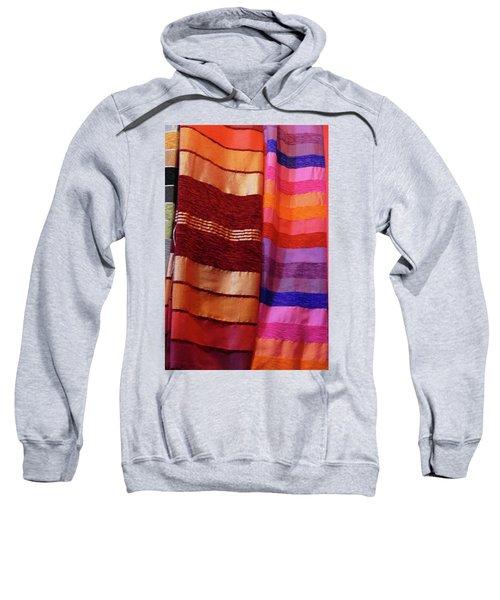 Colorful Fabrics In The Medina Market  Sweatshirt