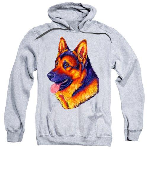 Colorful German Shepherd Dog Sweatshirt