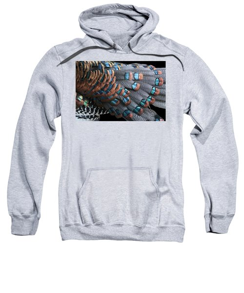 Copper-tipped Ocellated Turkey Feathers Photograph Sweatshirt