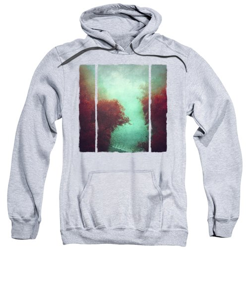 Copper Trees And River  In Mist Sweatshirt