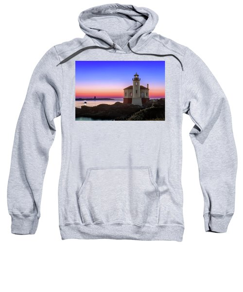 Crab Boat At The Bandon Lighthouse Sweatshirt