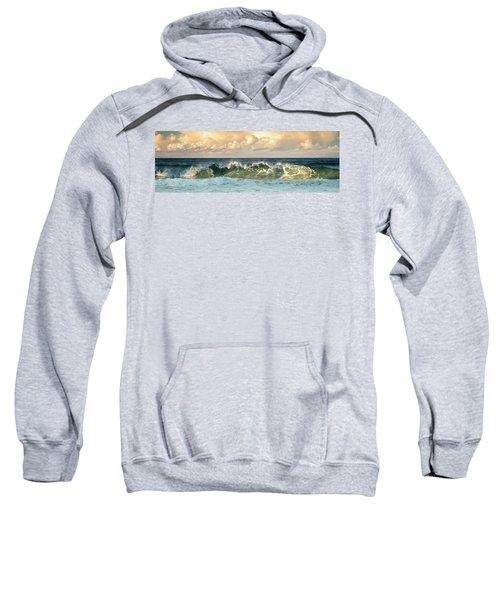 Crashing Waves And Cloudy Sky Sweatshirt
