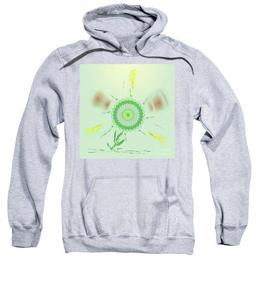 Crazy Spinning Flower Sweatshirt