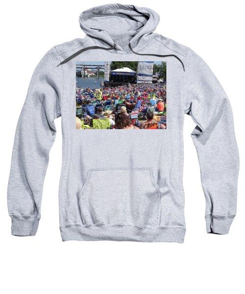 Crowd Enjoys Listening On A Sunny Day  Sweatshirt