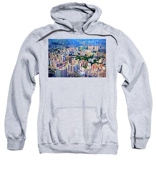Crowded Hong Kong Abstract Sweatshirt