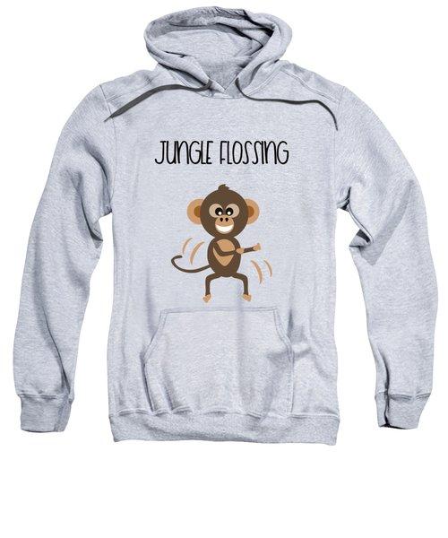 Cute Animal Monkey Jungle Flossing  Sweatshirt