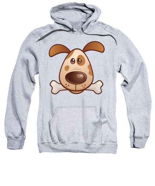 Cute Puppy With Bone Sweatshirt