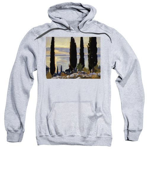 Cypress Trees At San Vigilio, 1913  Sweatshirt