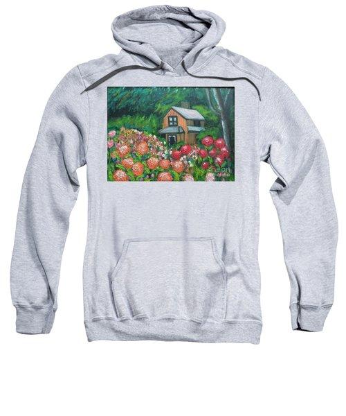 Dahlias In The Woods Sweatshirt