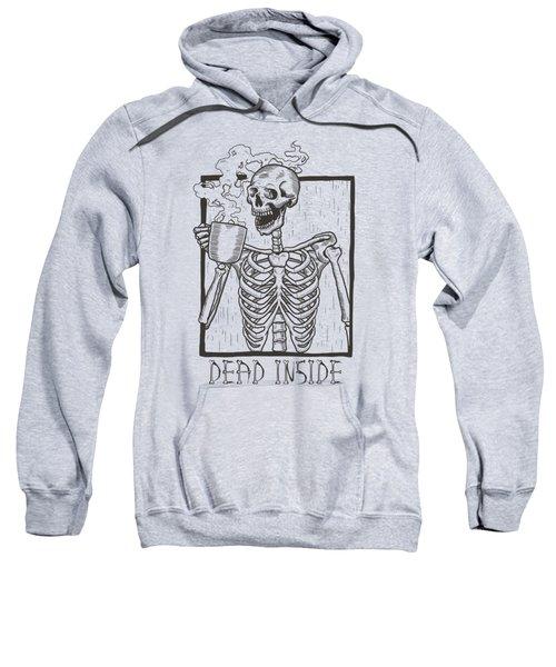 Dead Inside Skeleton Coffee Halloween Meme Sweatshirt