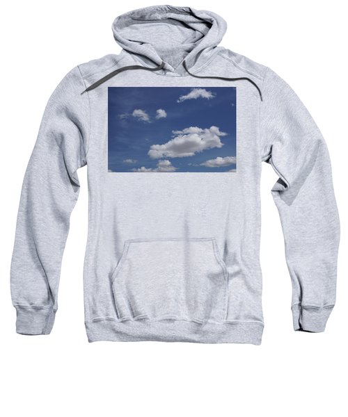 Deep Blue Sky And Fluffy Cumulous Cloud Sweatshirt