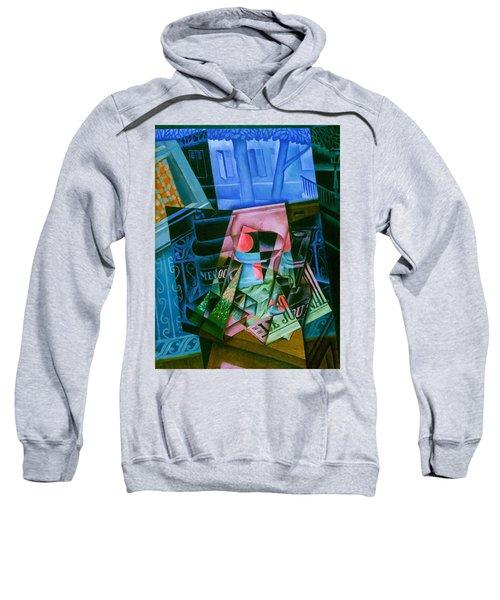 Digital Remastered Edition - Still Life Of Newspaper - Still Life In Front Of Open Window Sweatshirt
