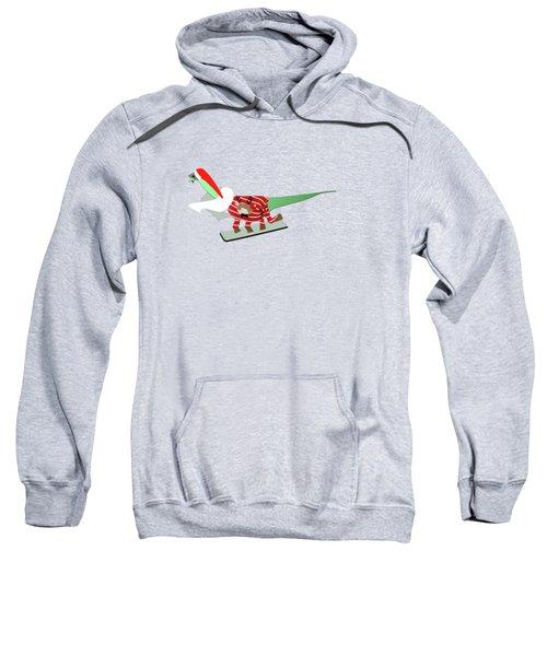 Dinosaur Snowboarding In Ugly Christmas Jumper Sweatshirt
