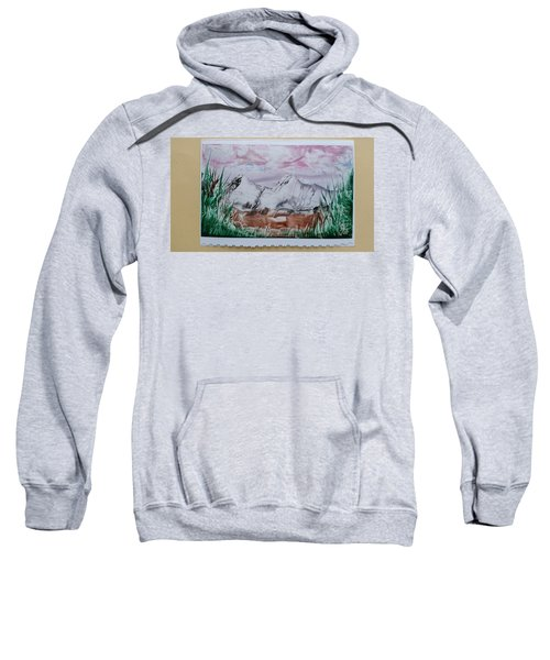 Distant Impressionistic Mountains Sweatshirt
