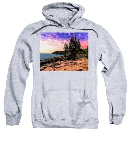 Distant View Of Otter Cliffs,acadia National Park,maine. Sweatshirt