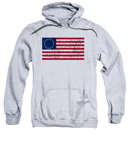 Distressed Betsy Ross Flag Sweatshirt