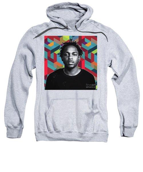 Sweatshirt featuring the painting Don't Kill My Vibe Kendrick by Carla B