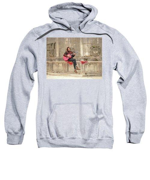 Dubrovnik Street Musician Sweatshirt