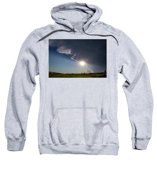 Dying Nebraska Thunderstorms At Sunset 002 Sweatshirt