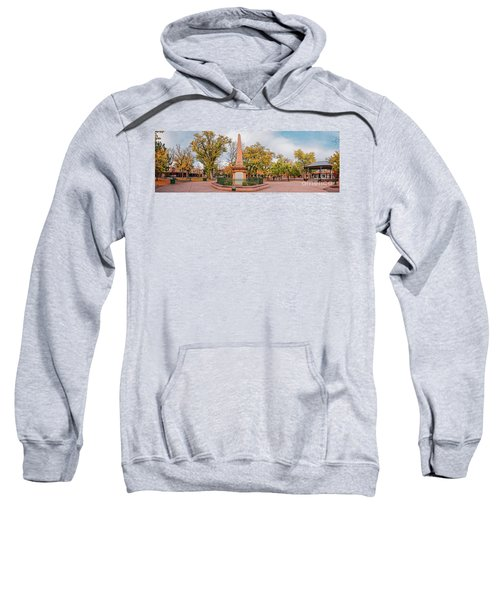 Early Morning Panorama Of Santa Fe Plaza - New Mexico Land Of Enchantment Sweatshirt