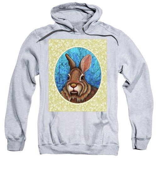 Eastern Cottontail Portrait - Cream Border Sweatshirt