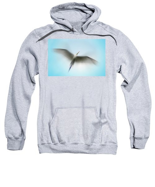Egret In Motion Sweatshirt