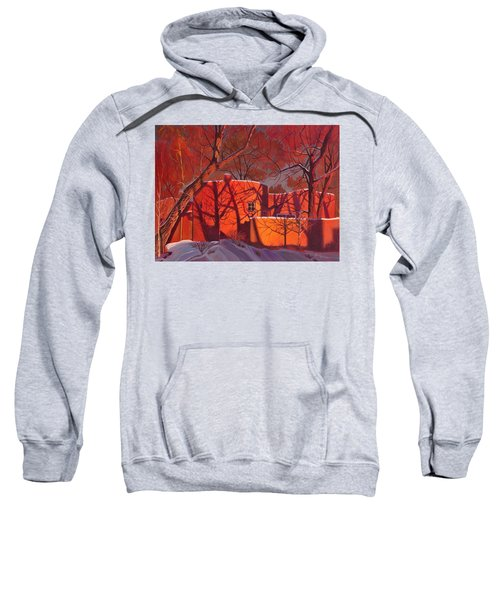 Evening Shadows On A Round Taos House Sweatshirt