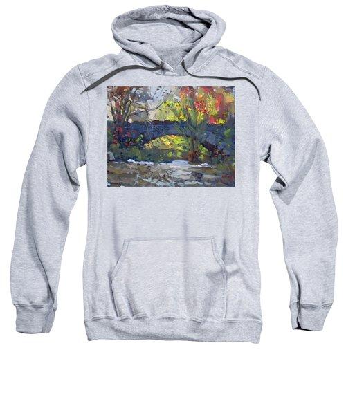 Fall At Stone Bridge In Goat Island Sweatshirt